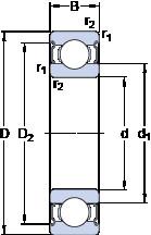 Bantalan 16003-2Z SKF